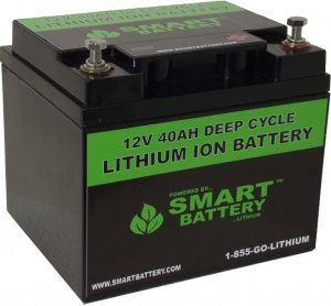 12V  40AH Deep Cycle Lithium Battery