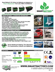 Smart Battery Sales Sheet