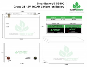12V 100AH Lithium Ion Battery Physical Specifications