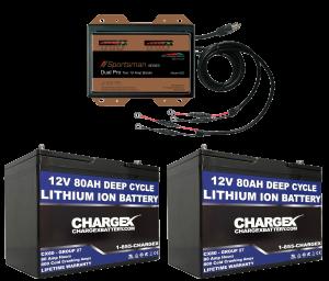 24V 80AH Lithium Ion Battery Deep Cycle Marine