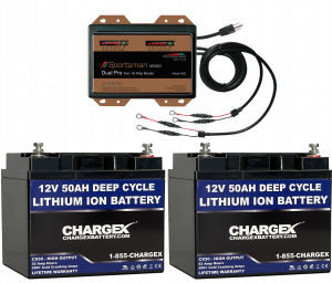 24V 50AH Lithium Ion Battery Kit with SS2 Charger