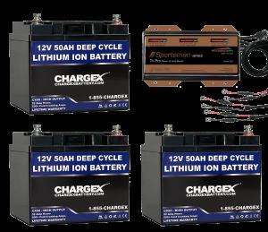 36V 50AH Lithium Ion Battery Kit Deep Cycle Marine RV Solar Golf Cart