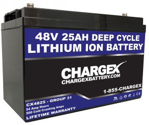 48V 25AH Group 31 Lithium Ion Battery
