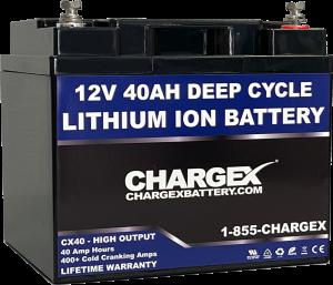 12V 40AH Deep Cycle Lithium Ion Battery