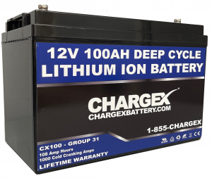 CHARGEX® 12V 100AH Lithium Battery
