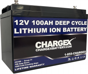 CHARGEX® 12V 100AH Lithium Ion Battery