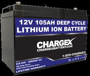 12V 105AH Group 65 Lithium Ion Battery Deep Cycle Starting Marine Golf Cart RV Solar