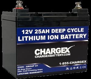 12V 25AH Deep Cycle Lithium Ion Battery