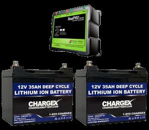 24V 35AH Deep Cycle Lithium Ion Battery Kit