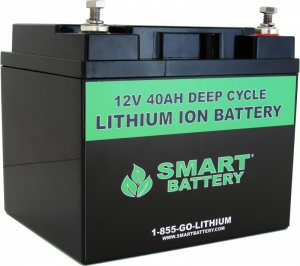 12V 40 AH Lithium Ion Battery | Deep Cycle Lithium Ion Battery | Smart Battery